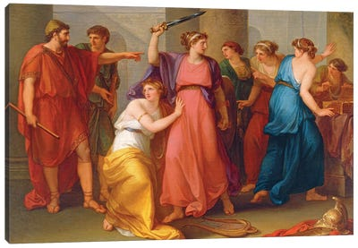 Achilles Discovered Canvas Art Print