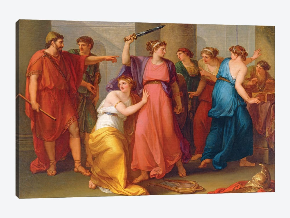 Achilles Discovered by Angelica Kauffmann 1-piece Canvas Artwork