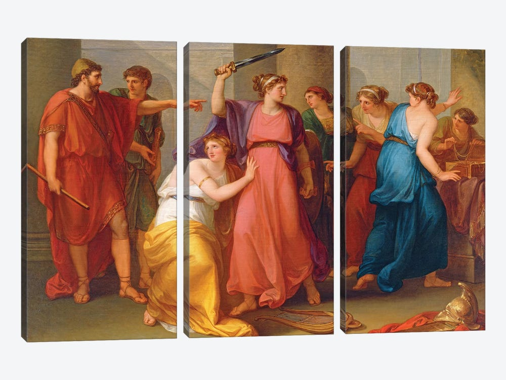 Achilles Discovered by Angelica Kauffmann 3-piece Canvas Artwork