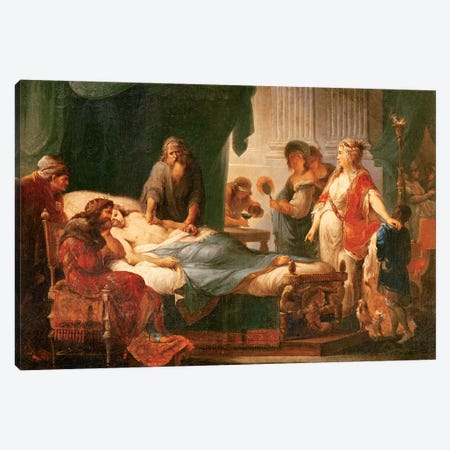 Antiochus And Stratonice Canvas Print #BMN7482} by Angelica Kauffmann Canvas Artwork