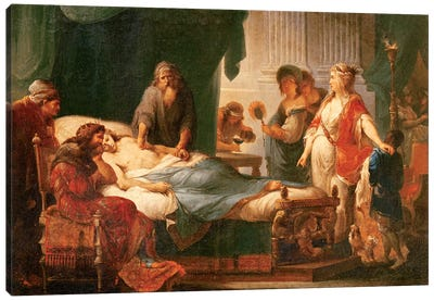 Antiochus And Stratonice Canvas Art Print