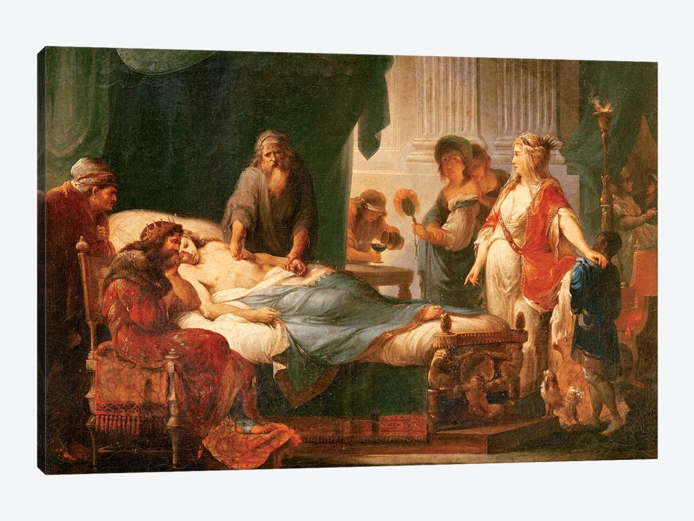 Antiochus And Stratonice by Angelica Kauffmann 1-piece Canvas Wall Art
