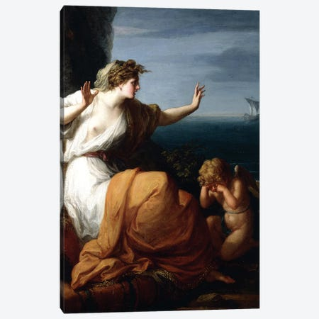 Ariadne Abandoned By Theseus Canvas Print #BMN7483} by Angelica Kauffmann Canvas Art