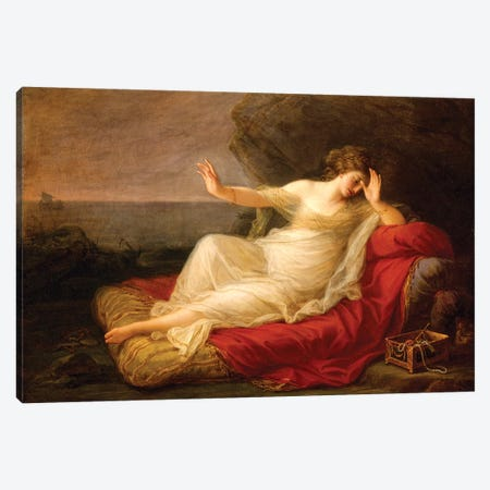 Ariadne Abandoned By Theseus On Naxos, 1774 Canvas Print #BMN7484} by Angelica Kauffmann Canvas Art Print