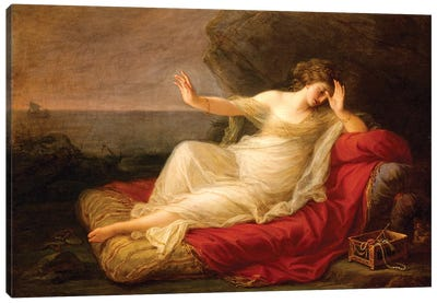 Ariadne Abandoned By Theseus On Naxos, 1774 Canvas Art Print