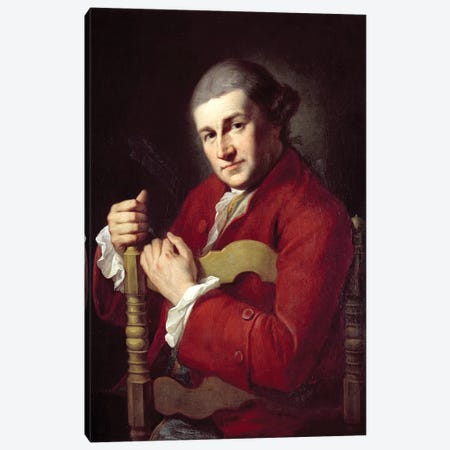 David Garrick Canvas Print #BMN7485} by Angelica Kauffmann Canvas Print