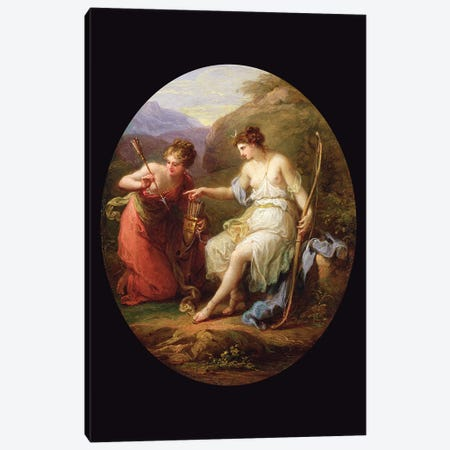 Diana Preparing For Hunting Canvas Print #BMN7486} by Angelica Kauffmann Canvas Print