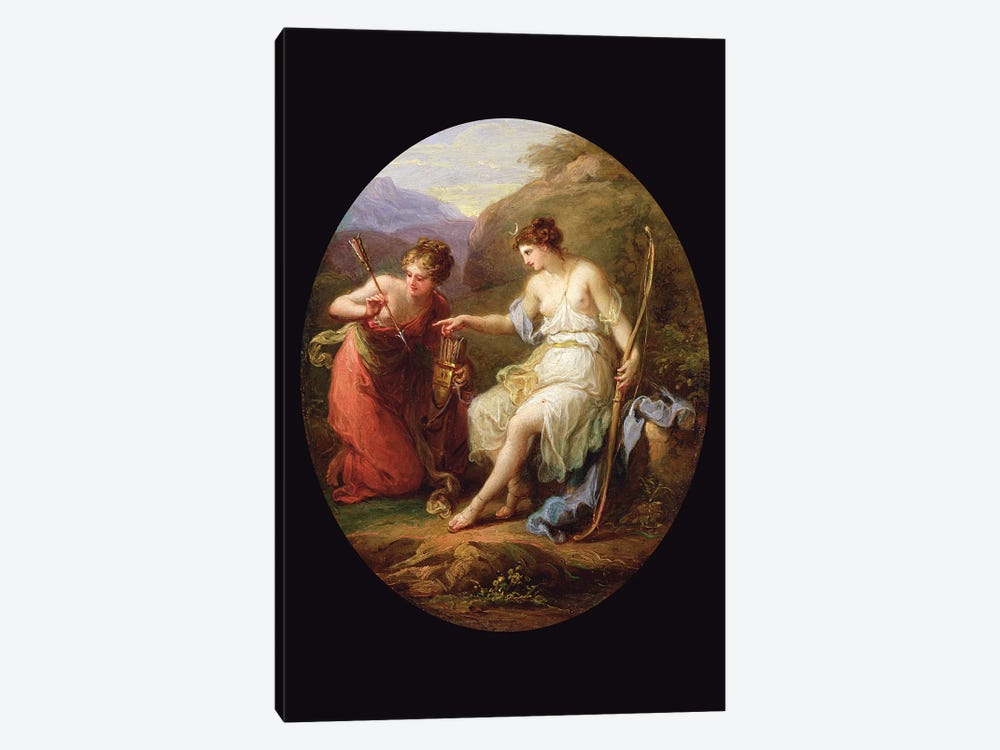 Diana Preparing For Hunting by Angelica Kauffmann 1-piece Canvas Art