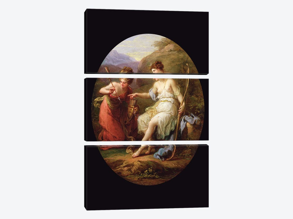Diana Preparing For Hunting by Angelica Kauffmann 3-piece Canvas Art