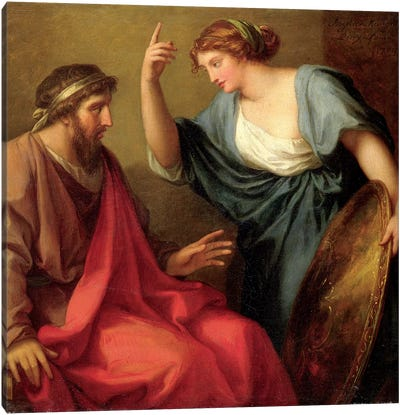 Egeria Handing Numa Pompilius His Shield, 1794 Canvas Art Print