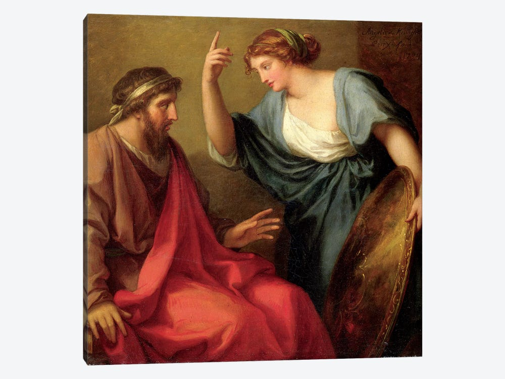 Egeria Handing Numa Pompilius His Shield, 1794 by Angelica Kauffmann 1-piece Canvas Art