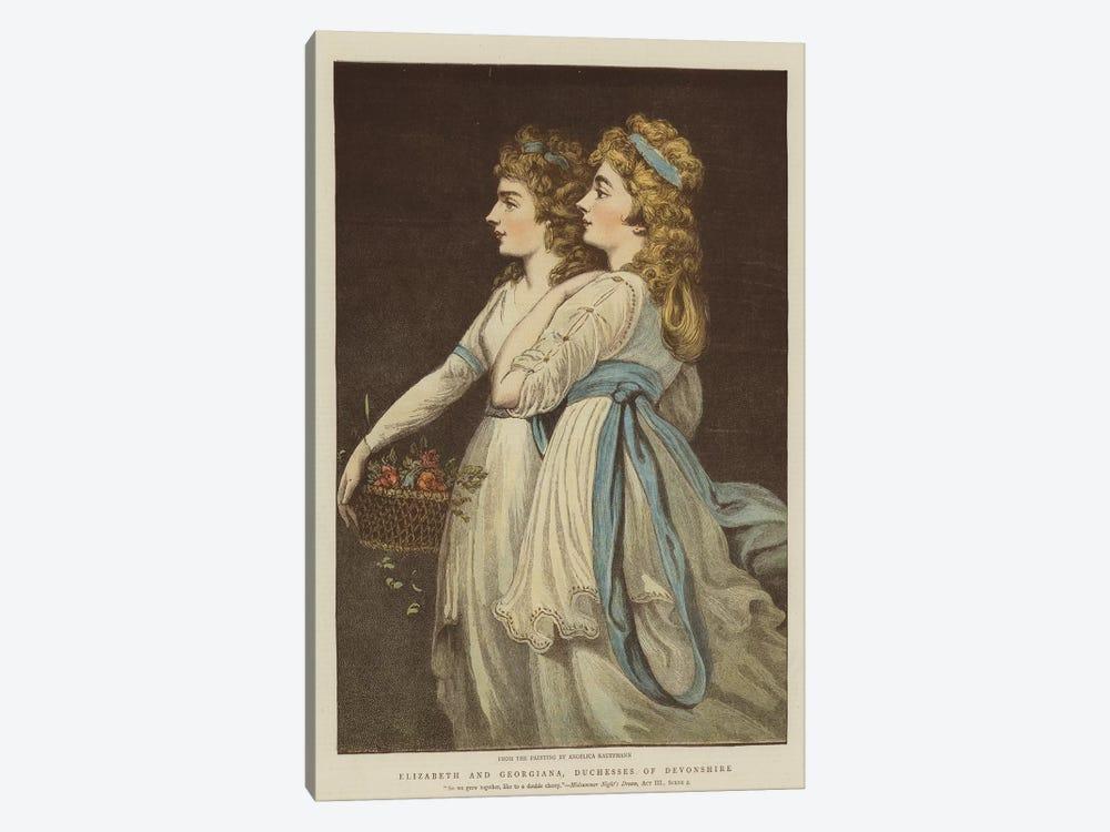 Elizabeth And Georgiana, Duchesses Of Devonshire by Angelica Kauffmann 1-piece Canvas Art Print