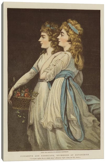 Elizabeth And Georgiana, Duchesses Of Devonshire Canvas Art Print