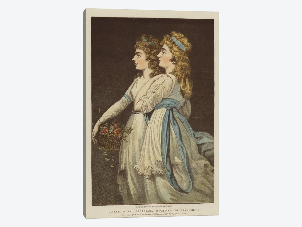 Elizabeth And Georgiana, Duchesses Of Devonshire by Angelica Kauffmann 1-piece Canvas Art Print