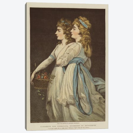 Elizabeth And Georgiana, Duchesses Of Devonshire Canvas Print #BMN7489} by Angelica Kauffmann Canvas Wall Art