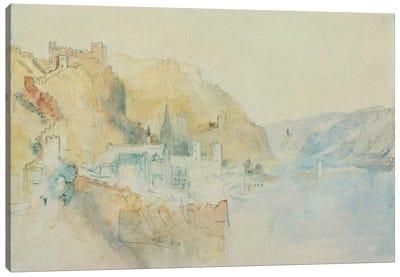On The Rhine  Canvas Art Print