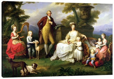 Ferdinand IV (King Of Naples) And His Family Canvas Art Print