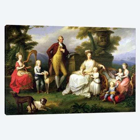 Ferdinand IV (King Of Naples) And His Family Canvas Print #BMN7491} by Angelica Kauffmann Art Print
