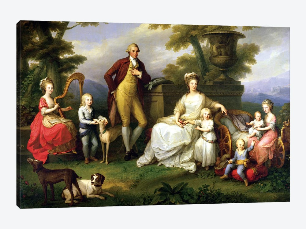 Ferdinand IV (King Of Naples) And His Family by Angelica Kauffmann 1-piece Canvas Artwork
