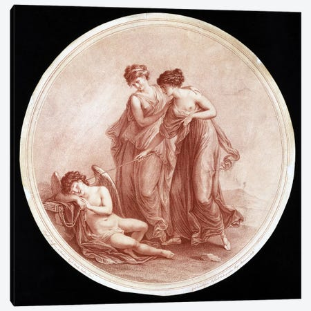 Graces Awakening Cupid, 1776 Canvas Print #BMN7493} by Angelica Kauffmann Art Print