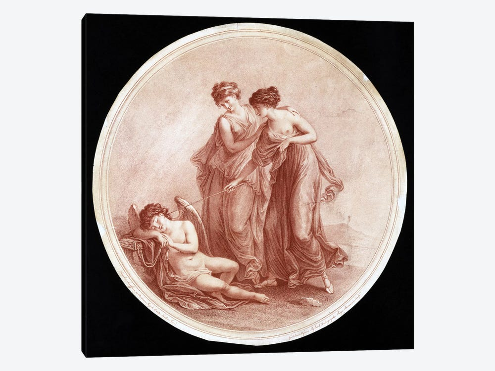 Graces Awakening Cupid, 1776 by Angelica Kauffmann 1-piece Canvas Artwork