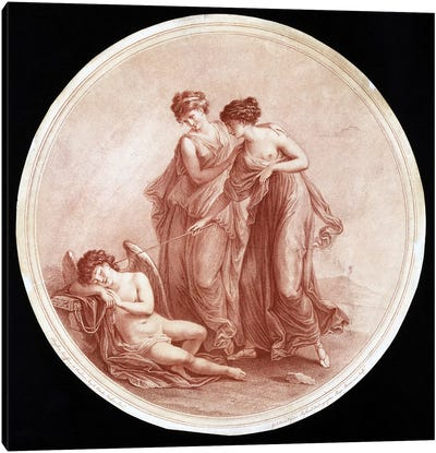 Graces Awakening Cupid, 1776 Canvas Art Print