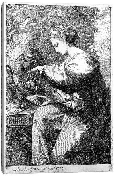 Hebe (Goddess Of Healing, Youth And Beauty) Giving A Drink To Jupiter In The Guise Of An Eagle, 1770 Canvas Art Print