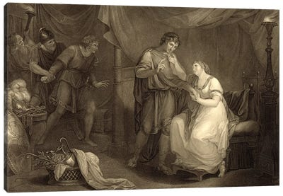 In Calchas' Tent, Act V, Scene II (Illustration From Shakespeare's Troilus And Cressida) Canvas Art Print