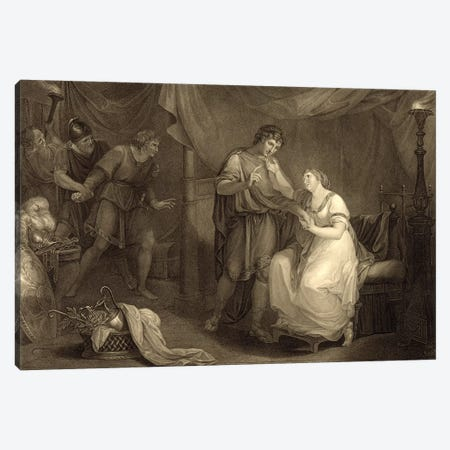 In Calchas' Tent, Act V, Scene II (Illustration From Shakespeare's Troilus And Cressida) Canvas Print #BMN7495} by Angelica Kauffmann Canvas Wall Art