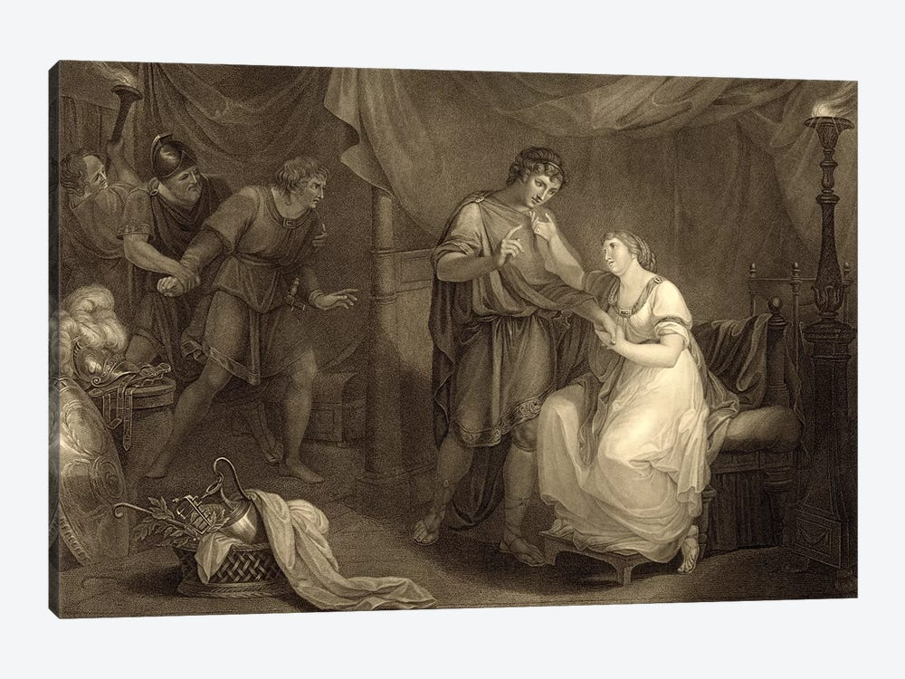 In Calchas' Tent, Act V, Scene II (Illustration From Shakespeare's Troilus And Cressida) by Angelica Kauffmann 1-piece Canvas Wall Art