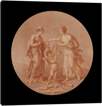 Juno, Venus And Cupid, 1777 Canvas Art Print