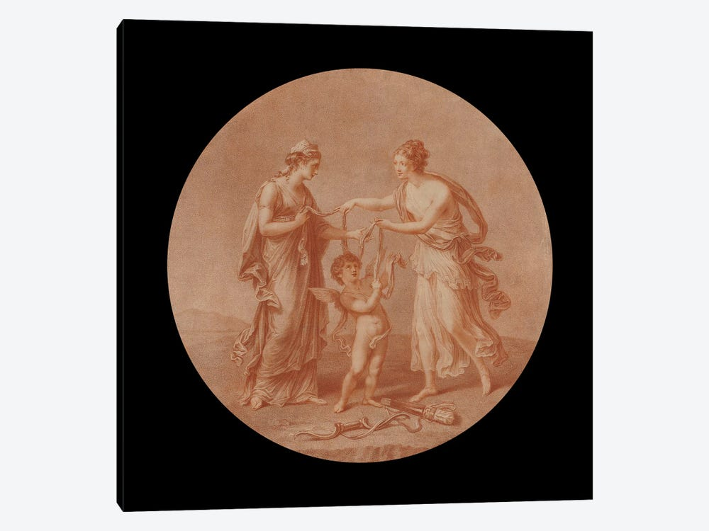 Juno, Venus And Cupid, 1777 by Angelica Kauffmann 1-piece Canvas Wall Art