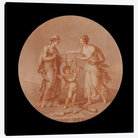 Juno, Venus And Cupid, 1777 Canvas Print #BMN7497} by Angelica Kauffmann Canvas Art