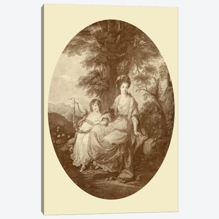 Lady Rushout And Daughter Canvas Print #BMN7498} by Angelica Kauffmann Canvas Art Print