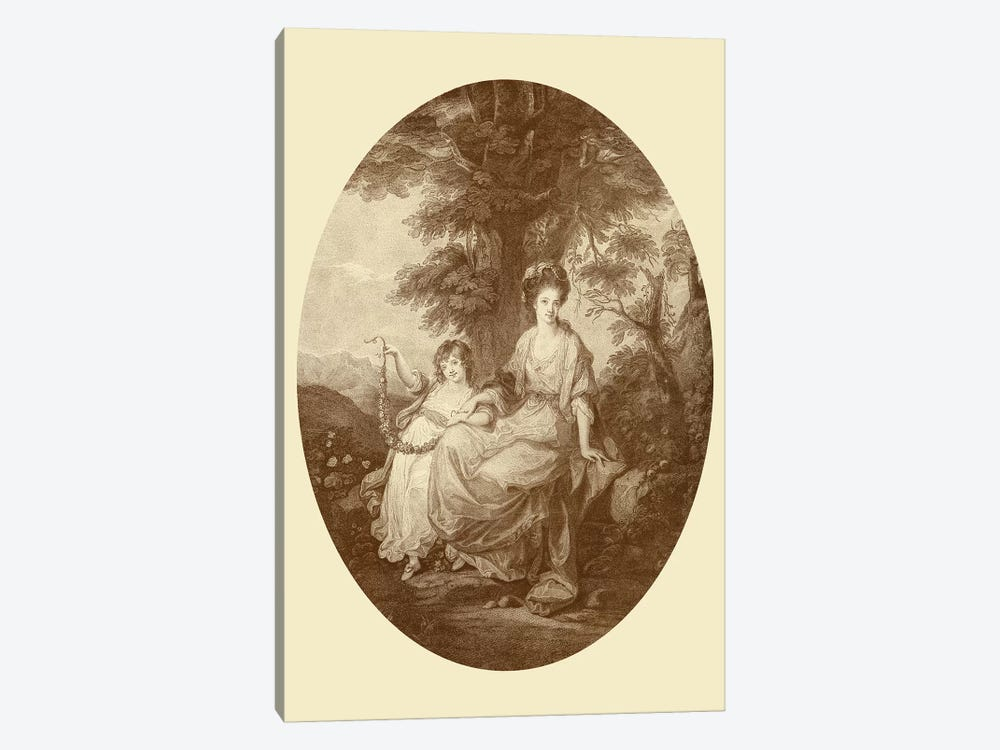 Lady Rushout And Daughter by Angelica Kauffmann 1-piece Art Print