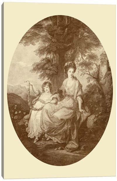 Lady Rushout And Daughter Canvas Art Print