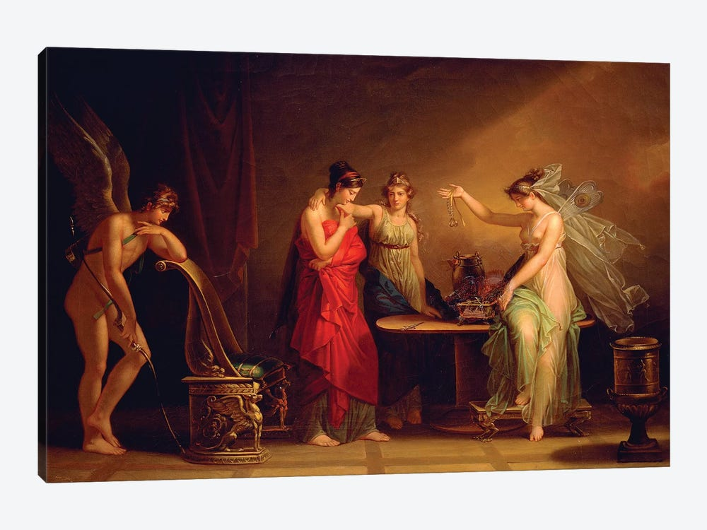 Legend Of Cupid And Psyche by Angelica Kauffmann 1-piece Canvas Artwork