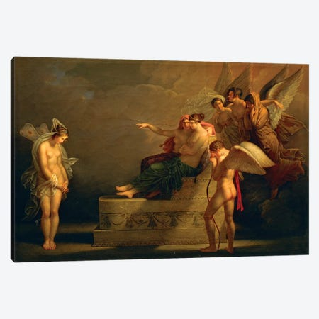 Legend Of Cupid And Psyche Canvas Print #BMN7500} by Angelica Kauffmann Art Print