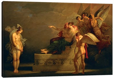 Legend Of Cupid And Psyche Canvas Art Print