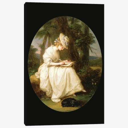 Louisa Hammond 3-Piece Canvas #BMN7501} by Angelica Kauffmann Canvas Art Print