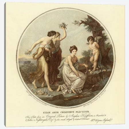 Love After Charges Are Imposed Canvas Print #BMN7502} by Angelica Kauffmann Canvas Print