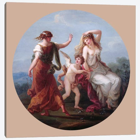 Love Conquering Prudence Canvas Print #BMN7504} by Angelica Kauffmann Canvas Artwork
