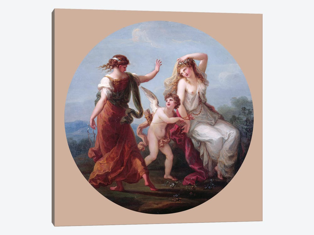 Love Conquering Prudence by Angelica Kauffmann 1-piece Art Print