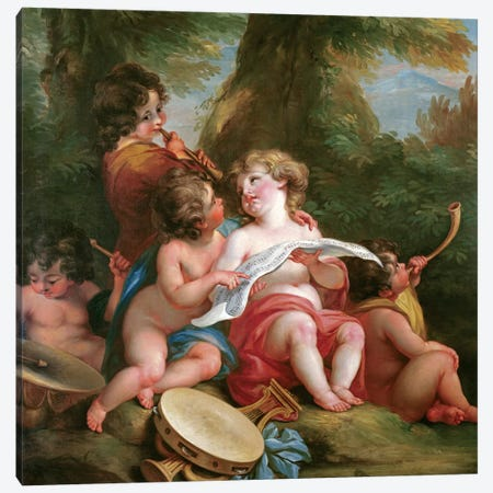 Music Canvas Print #BMN7506} by Angelica Kauffmann Canvas Wall Art