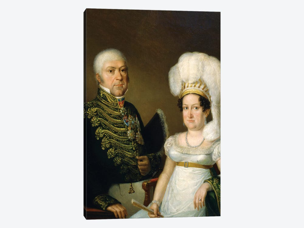 Portrait Of A General And His Wife by Angelica Kauffmann 1-piece Canvas Artwork