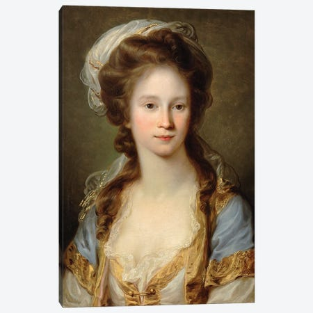 Portrait Of A Lady, c.1780 Canvas Print #BMN7510} by Angelica Kauffmann Canvas Wall Art