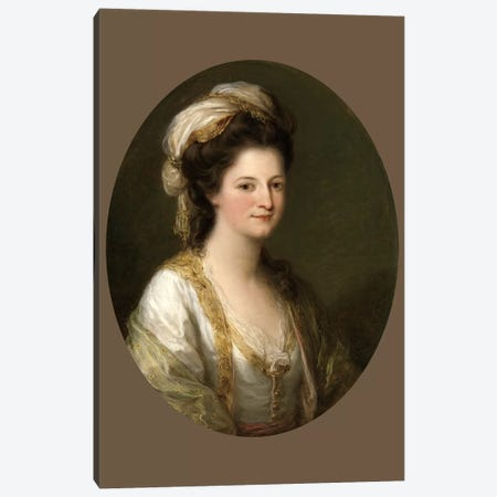 Portrait Of A Woman, c.1770 3-Piece Canvas #BMN7511} by Angelica Kauffmann Canvas Artwork