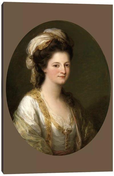 Portrait Of A Woman, c.1770 Canvas Art Print