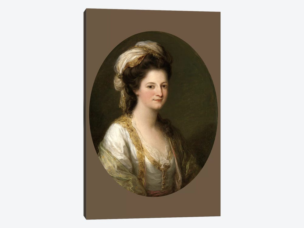 Portrait Of A Woman, c.1770 by Angelica Kauffmann 1-piece Canvas Art Print