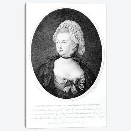 Portrait Of Chevalier d'Eon, 1788 Canvas Print #BMN7512} by Angelica Kauffmann Canvas Art